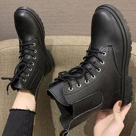 レディース 靴 ブーツ ショートブーツ サイドゴア サイドゴアブーツ ブラック 黒 ラバーシューズ レースアップシューズ 編み上げ