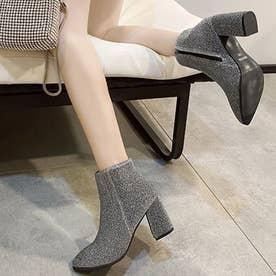 シューズ 靴 ブーツ ショートブーツ ショート ショート丈 ブラック 黒 ブーティー 冬 (グレー)