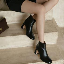 シューズ 靴 ブーツ ショートブーツ ショート ショート丈 ブラック 黒 スクエアトゥ ブーティー 冬