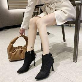 シューズ 靴 ブーツ ブーティー ショートブーツ ショート ショート丈 ブラック 黒 ブーティー 冬 (ブラック)