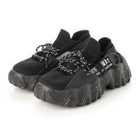 レディース 靴 シューズ スニーカー ハイテクスニーカー カジュアル 厚底 ダッドスニーカー 厚底スニーカー (ブラック)