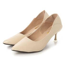 レディース パンプス 靴 シューズ ポインテッドトゥ シンプル とんがり ベーシック (ベージュ)