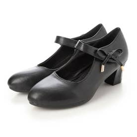 レディース 靴 シューズ パンプス フォーマル フォーマルシューズ ストラップ ストラップパンプス アンクルストラップ (ブラック)