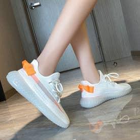 レディース シューズ 靴 スニーカー ハイテクスニーカー 厚底 厚底スニーカー カジュアル (ホワイト)