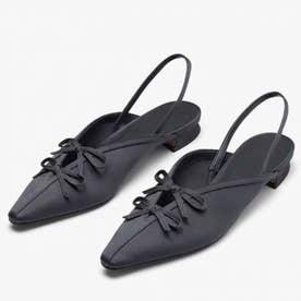 レディース パンプス 靴 シューズ ポインテッドシューズ つっかけ ベルト ベルトサンダル とんがり カジュアル