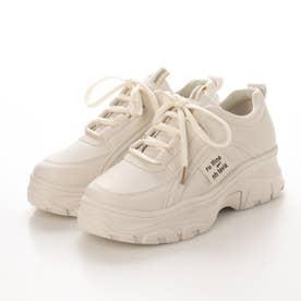 レディース スニーカー 靴 白スニーカー 白 ハイテクスニーカー ハイテク カジュアル 厚底 (ベージュ)