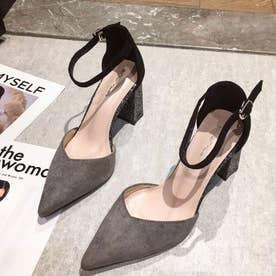 レディース パンプス 靴 シューズ ポインテッドシューズ カジュアル ミュールパンプスサンダル ヒールサンダル ポインテッドトゥ 靴 サボサンダル 春 夏 バックストラップ (