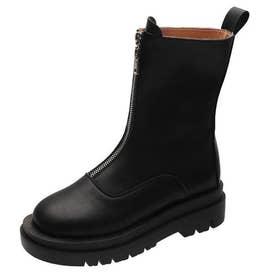レディース 厚底ブーツ (ブラック)