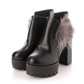 レディース ブーツ ショートブーツ (ブラック)