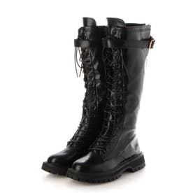 レディース 厚底 ブーツ ロングブーツ (ブラック)
