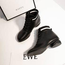レディース 靴 ブーツ ショートブーツ (ブラック)
