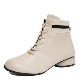 レディース 靴 ブーツ ショートブーツ (ベージュ)