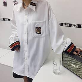 シャツ ロゴ メンズ (ホワイト)