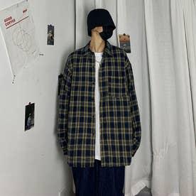 チェックシャツ シャツ メンズ (イエロー)