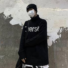 ロゴニット ニット メンズ 韓国 (ブラック)