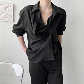 シャツ メンズ 韓国 (ブラック)