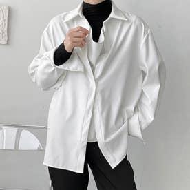 シャツ メンズ 韓国 (ホワイト)