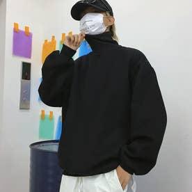 トレーナー メンズ パーカー 韓国 (ブラック)