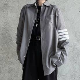 シャツ ロゴ メンズ 韓国 (グレー)