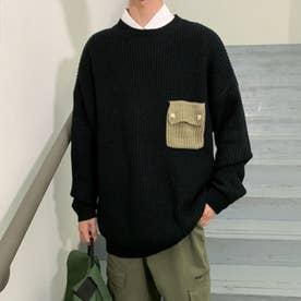 ビッグシルエット セーター (ブラック)