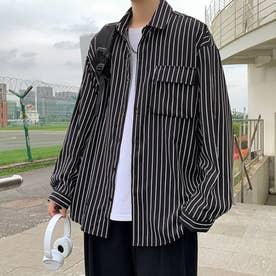 ストライプシャツ (ブラック)