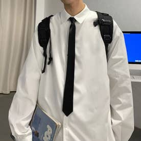 シャツ シンプル メンズ 韓国 (ホワイト)
