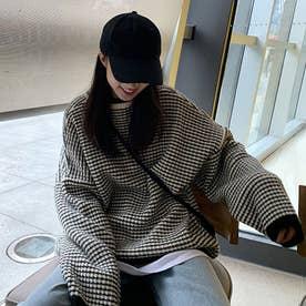 レディース トップス ニット セーター シンプル Uネック 長袖 無地 秋冬 ざっくりニット モノトーン 柄  冬 ニット・セーター