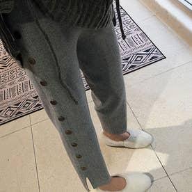 レディース ボトムス パンツ クロップドパンツ アンクルパンツ シンプル テーパードパンツ 無地 ズボン 冬 (グレー)