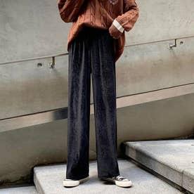 レディース ボトムス パンツ クロップドパンツ アンクルパンツ シンプル テーパードパンツ ワイドパンツ 無地 ズボン 冬 ワイドパンツ (ブラック)