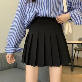 パンツ ショート スカート レディース ミニスカート パンツ ショート ショーパン ミニスカート プリーツ (ブラック)