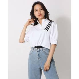 レディース トップス 夏 SS ブラウス ホワイト カットソー 夏 夏 SS ブラウス 白 韓国ファッション 韓国 オフィスカジュアル (ホワイト)