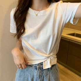 レディース トッブス 夏 夏 SS TシャツビッグT ゆったりロゴT ロゴ カジュアル メンズライク 韓国ファッション 韓国 ロンT 半袖 夏服 (ホワイト)