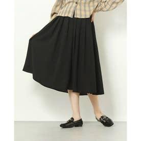 シンプル プリーツ スカート (ブラック)