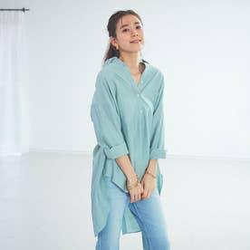 【WEB&一部店舗限定】カールマイヤーバックスリットシャツ (グリーン)