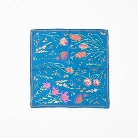 manipuri nativeflowerスカーフ (ブルー)
