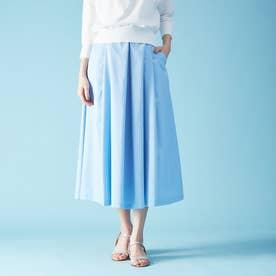 ハイウエストポケット付きスカート (サックスブルー)
