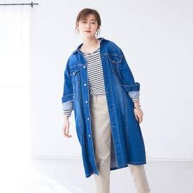 【Mylanka】ロングデニムジャケット (ブルー)