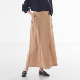 【Mylanka】ラップ風スカート (ベージュ)