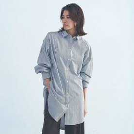 【BRAHMIN】ブロードロングシャツ (ブラック系その他1)