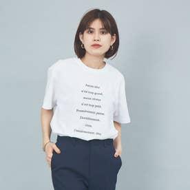フロントバックネックプリントTシャツ (ホワイト)