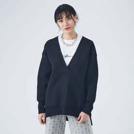 【Mylanka】エアリースムースニット (ブラック)