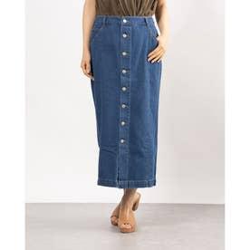 デニムタイトスカート (BLUE)