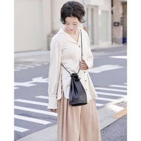 Rename 本革 巾着バッグ (ブラック)