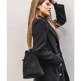 Rename ファーボア 巾着ハンドバッグ (ブラック)