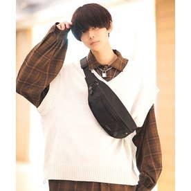 Rename CORDURA 刺繍ロゴウエストバッグ (ブラック/グレー)
