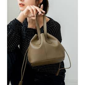 Rename フェイクレザー 巾着トートショルダー (カーキ)