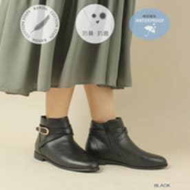 ストレスフリー/レインクロスベルトショートブーツ (BLACK)