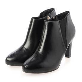 ストレスフリー/晴雨兼用 サイドゴアショートブーツ (BLACK)