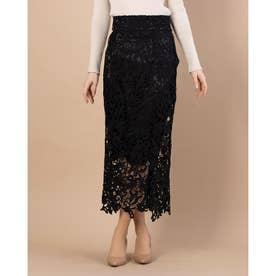 レースタイトスカート (BLACK)
