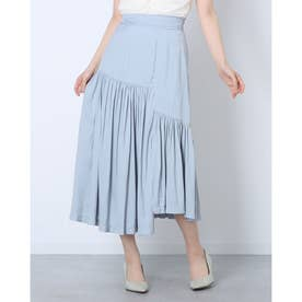 ランダムカットデザインスカート (BLUE)